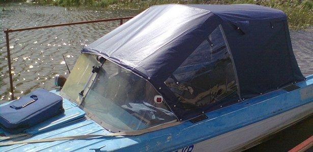самодельный тент для лодки крым