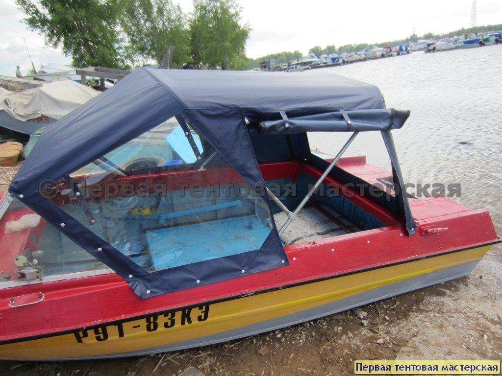 лодка под тентом